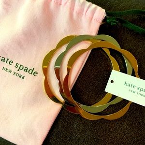Kate spade scalloped tie color bangles, never worn